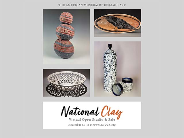 AMOCA National Clay Open Studio and Sale November 14-15